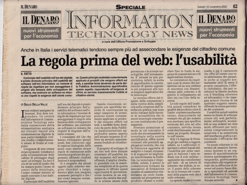 L'usabilità del web di Giulio della Valle