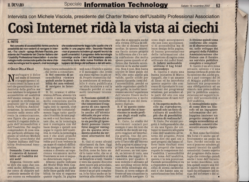 Leggi l'intervista a Michele Visciola di Giulio della Valle